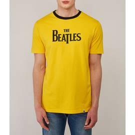 Yellow  Beatles Print T-Shirt