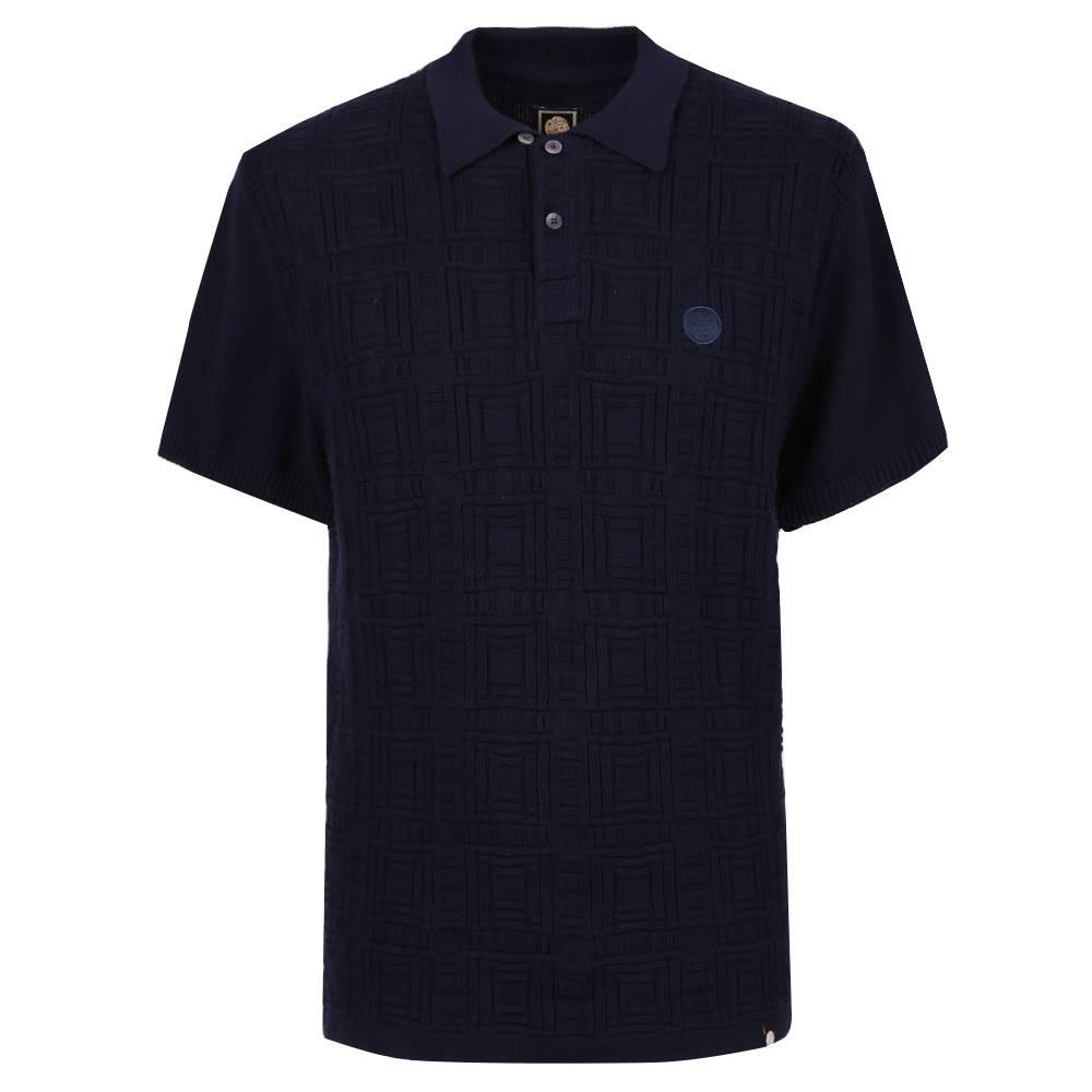 Retro Jacquard Knitted Polo Shirt  3944f557a0d1