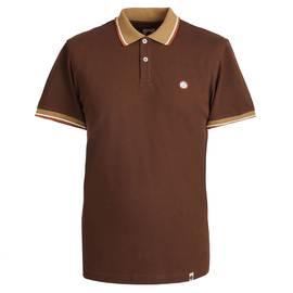 Brown Tipped Pique Polo Shirt 3023b03777