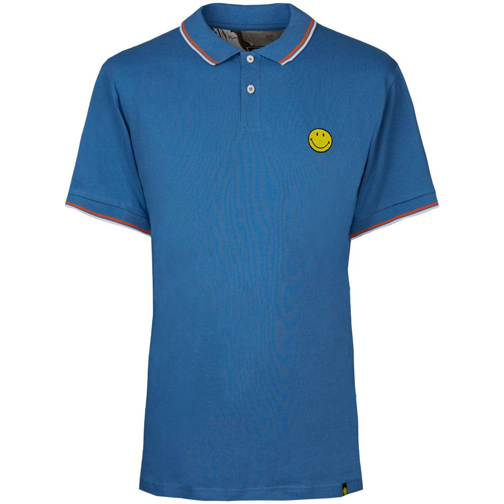 Smiley Chest Embroidery Polo Shirt