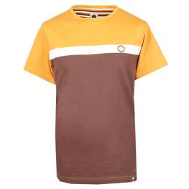 Brown Front Colour Block T-Shirt