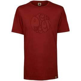 0367d46f1 Burgundy Garment Dye Applique Logo T-Shirt