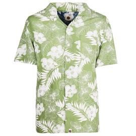 5755e948 Green Floral Print Short Sleeve Shirt