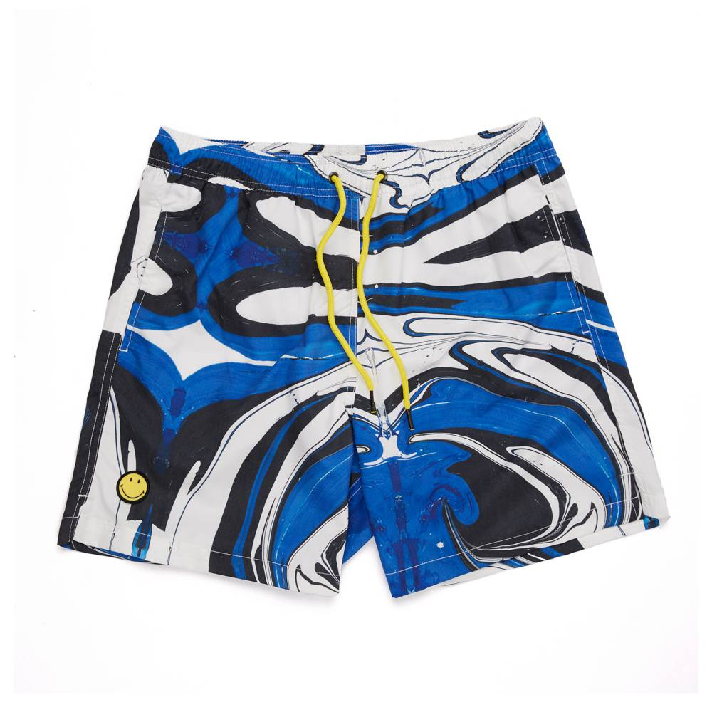 Smiley Splash Print Swim Short
