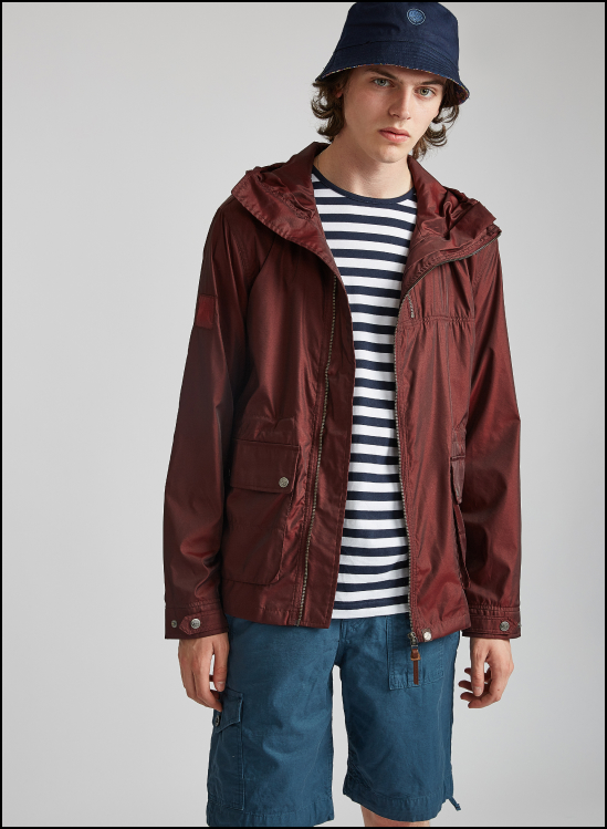 2d1aa1ff7645a 'If you're regularly caught in the rain due to the UK's unpredictable  weather the burgundy zip up hooded jacket is your answer!