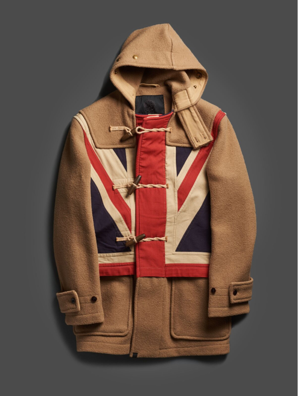 9944185c8 Pretty Green x Gloverall's collaboration brings a 21st century spin to the  centuries-old attire, featuring bold Union Jack emblems and swirling, ...