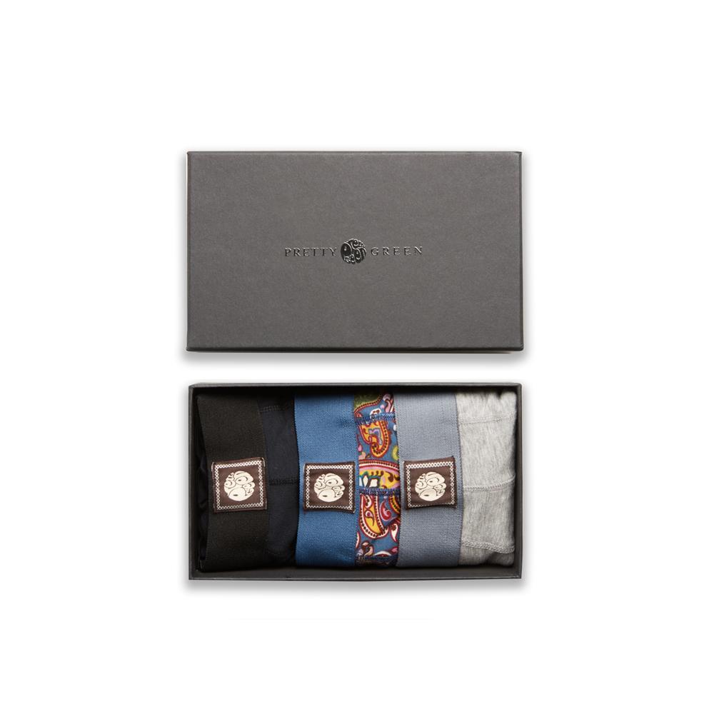 3 Pack Boxer Shorts Gift Set (Multi-Colour, L, Underwear)