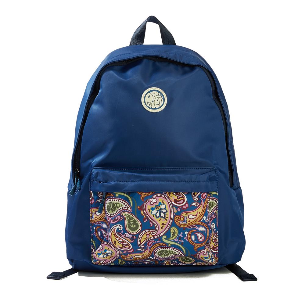d5a2f09e5d Black Nylon Backpack With Paisley Pocket
