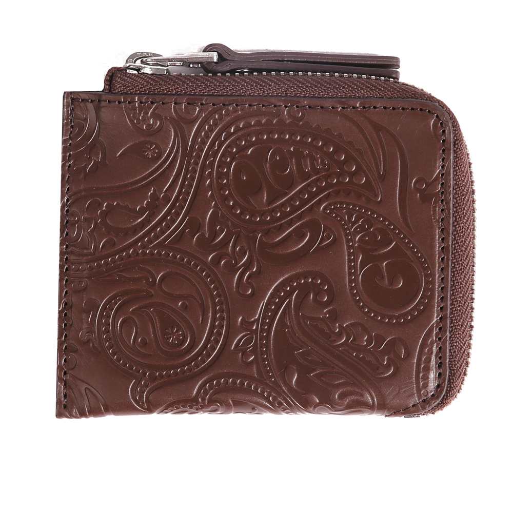 Paisley Embossed Leather Zip Wallet  a8895d261