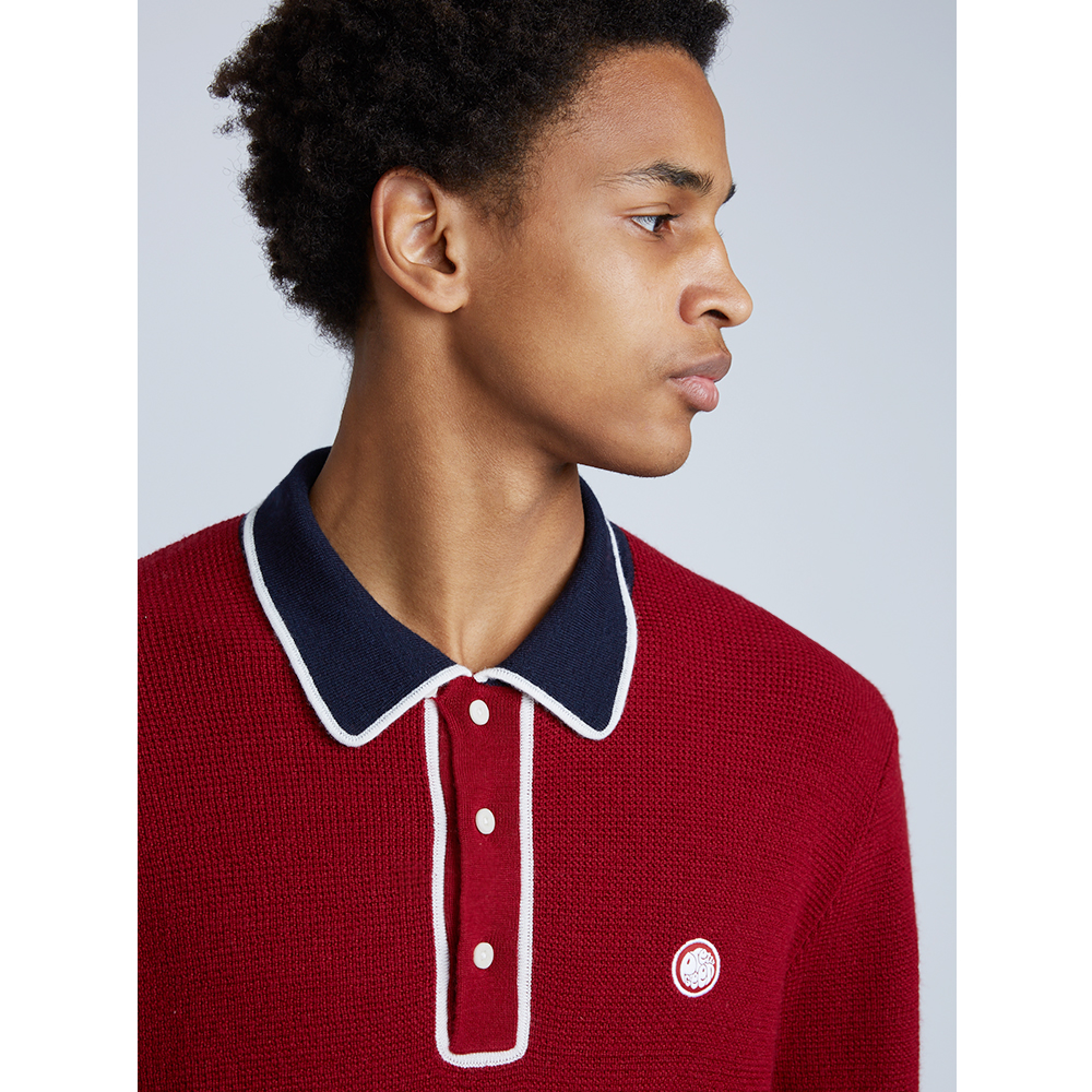 8a39f8551 Long Sleeve Smart Knitted Polo | Pretty Green | Online Shop