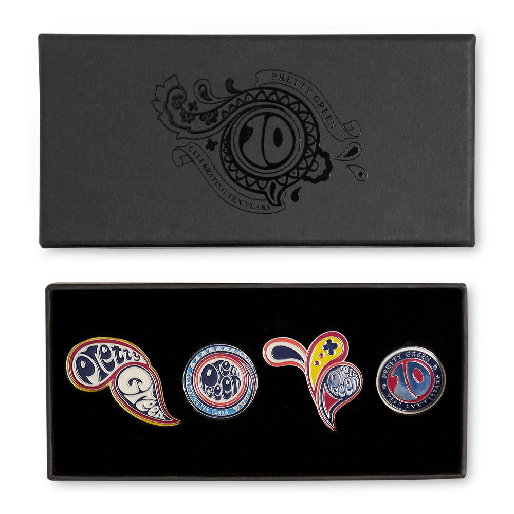 10th Anniversary Badge Pack (Multi-Colour, One Size, Badges)