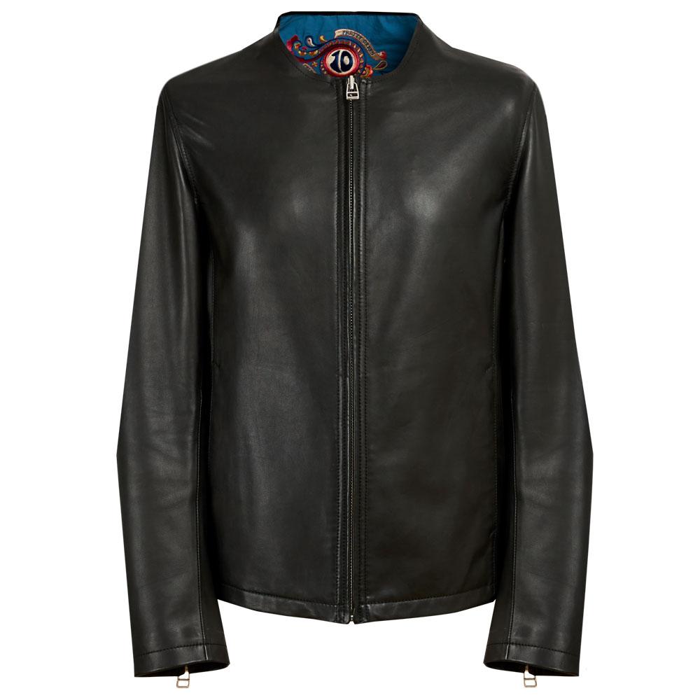 10th Anniversary Leather Biker Jacket (Black, L, Jackets)