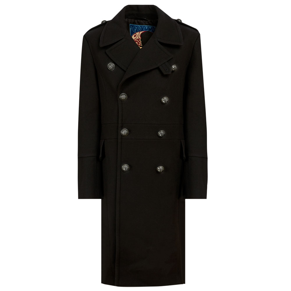 10th Anniversary Wool Overcoat (Black, L, Coats)