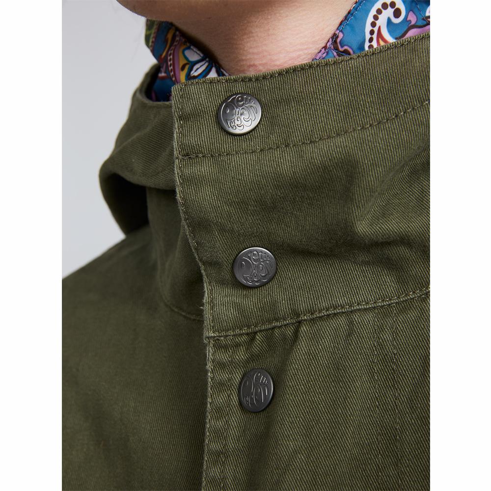 ca18220394e Cotton Zip Up Hooded Parka