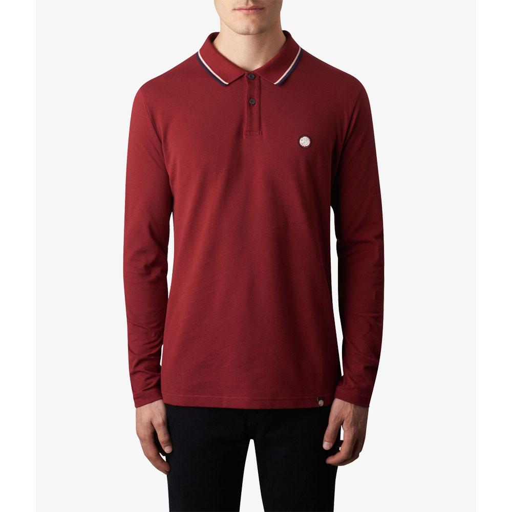 a0856169517 Long Sleeve Tipped Pique Polo Shirt