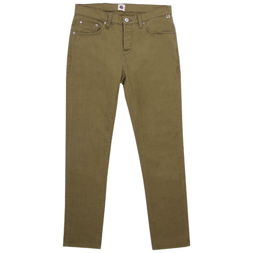 5 Pocket Slim Fit Jeans (Khaki, 28, Slim)